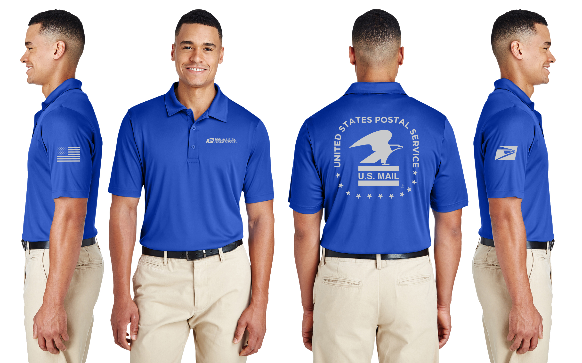 Usps Performance Shirt Polo 407 Prints